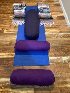 Restorative Yoga Bolsters and Blankets